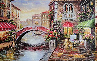 """Jigsaw Puzzles for Adults 1000 Piece Large Puzzle, Water City Paintings Jigsaw Puzzle - 27.56"""" x 22"""""""