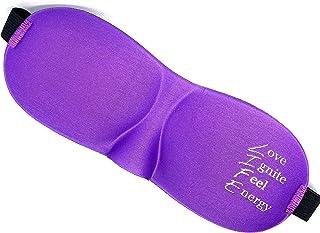 Pfaves Sleeping Eye Mask Blindfold Prescribed For Deep Sleep Meditation Motivation Reads Love Ignite Feel Energy Purple