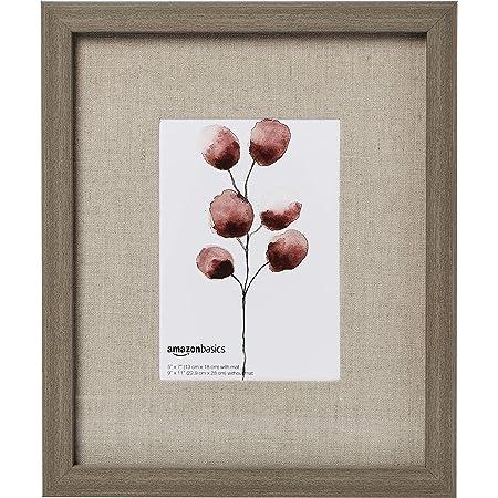 Amazon Basics - Cornice da muro, stile galleria d'arte, 23 x 28 per foto da 12,7 x 17,8 cm, legno stile fieno