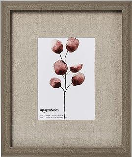 "AmazonBasics Gallery Wall Frame - 9"" x 11"" Frame For 5"" x 7"" Photo Display, Barnwood (3-Pack)"