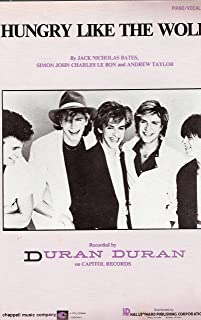 Hungry like the Wolf ; Duran Duran ; Vocal Piano Guitar with Tabs