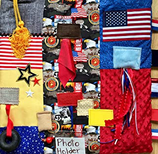 Fidget Blanket for Dementia | Fidget Quilt | Alzheimer's Blanket | US MARINE VETERAN || by Restless Remedy