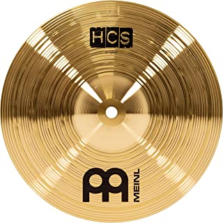 """Meinl 10"""" Splash Cymbal – HCS Traditional Finish Brass for Drum Set, Made In Germany, 2-YEAR WARRANTY (HCS10S)"""