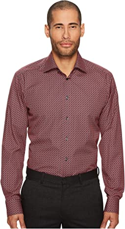 Eton Slim Fit Geo Print Shirt