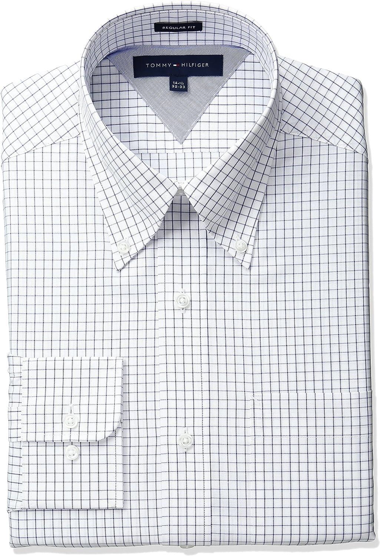 Tommy Hilfiger Men's Dress Regular Long Beach Mall Check Fit Choice Shirt