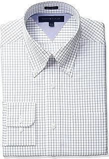 Tommy Hilfiger Men's Regular Fit Tattersall Dress Shirt