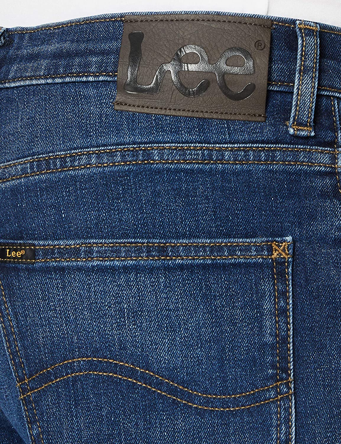 Lee Brooklyn Straight Jeans Homme Mid Worn Park Ll