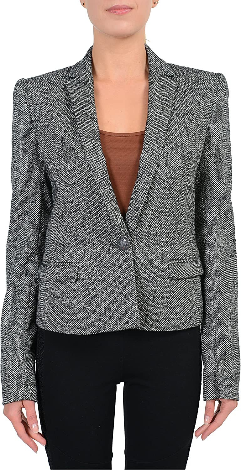 Just Cavalli 100% Wool Multicolor One Button Women's Blazer US S IT 40