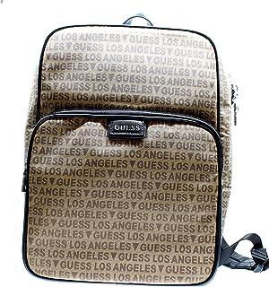 Mochila hombre taupe marrón los angeles estampada porta PC ordenador 13 pulgadas Tablet iPad doble bolsillo
