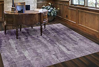 Brumlow Mills EW10132-7'6x10 Rustic Plum Purple Vintage Abstract Area Rug, 7'6