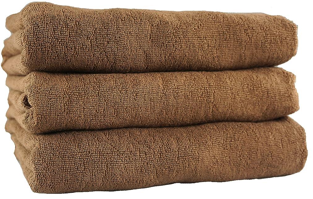 手当ロッジ心配する業務用タオル 1000匁 バスタオル スレン染 ブラウン 3枚セット