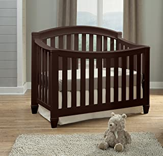 Thomasville Kids Highlands 4-in-1 Convertible Crib, Espresso, Easily Converts to Toddler Bed Day Bed or Full Bed, Three Position Adjustable Height Mattress, Assembly Required (Mattress Not Included)