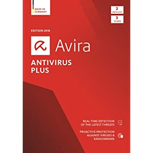 Avira Antivirus Plus 2018 Security Software (ESD) / Anti-Virus Protection (3-Year Licence) for 2 Devices / Download for Windows and Mac [Online Code]