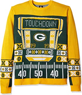 green bay packers christmas sweater with lights