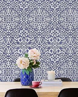 Palace Trellis Moroccan Wall Stencil for Painting - Feature Wall Pattern Stencils - Moroccan Wallpaper Stencils - DIY Boho Glam Wall Decor