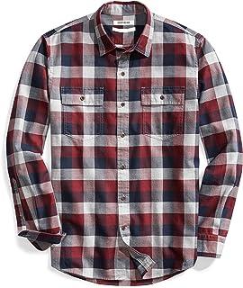 Goodthreads Men's Standard-Fit Long-Sleeve Plaid Herringbone Shirt