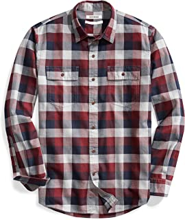 Men's -Fit Long-Sleeve Plaid Herringbone Shirt