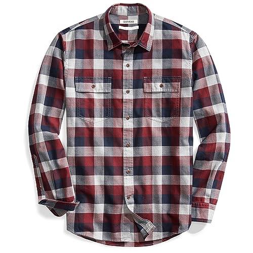 d197e07d31d1c Goodthreads Men s Standard-Fit Long-Sleeve Plaid Herringbone Shirt