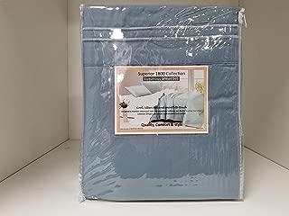 1800 Premier Ultra Soft Brushed Microfiber Queen Sheet set - Deep pocket for Pillowtop - Slate Blue