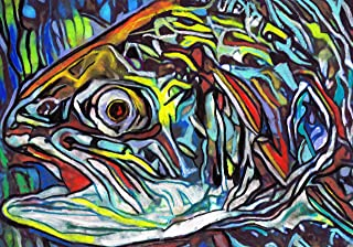 abstract trout art