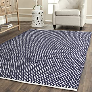 Safavieh Boston Collection BOS685D Handmade Navy Cotton Area Rug (4' x 6')