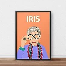 Iris Apfel Poster // Print - Fashion Icon - Artwork - Minimalist - Inspirational - Fashion Icon