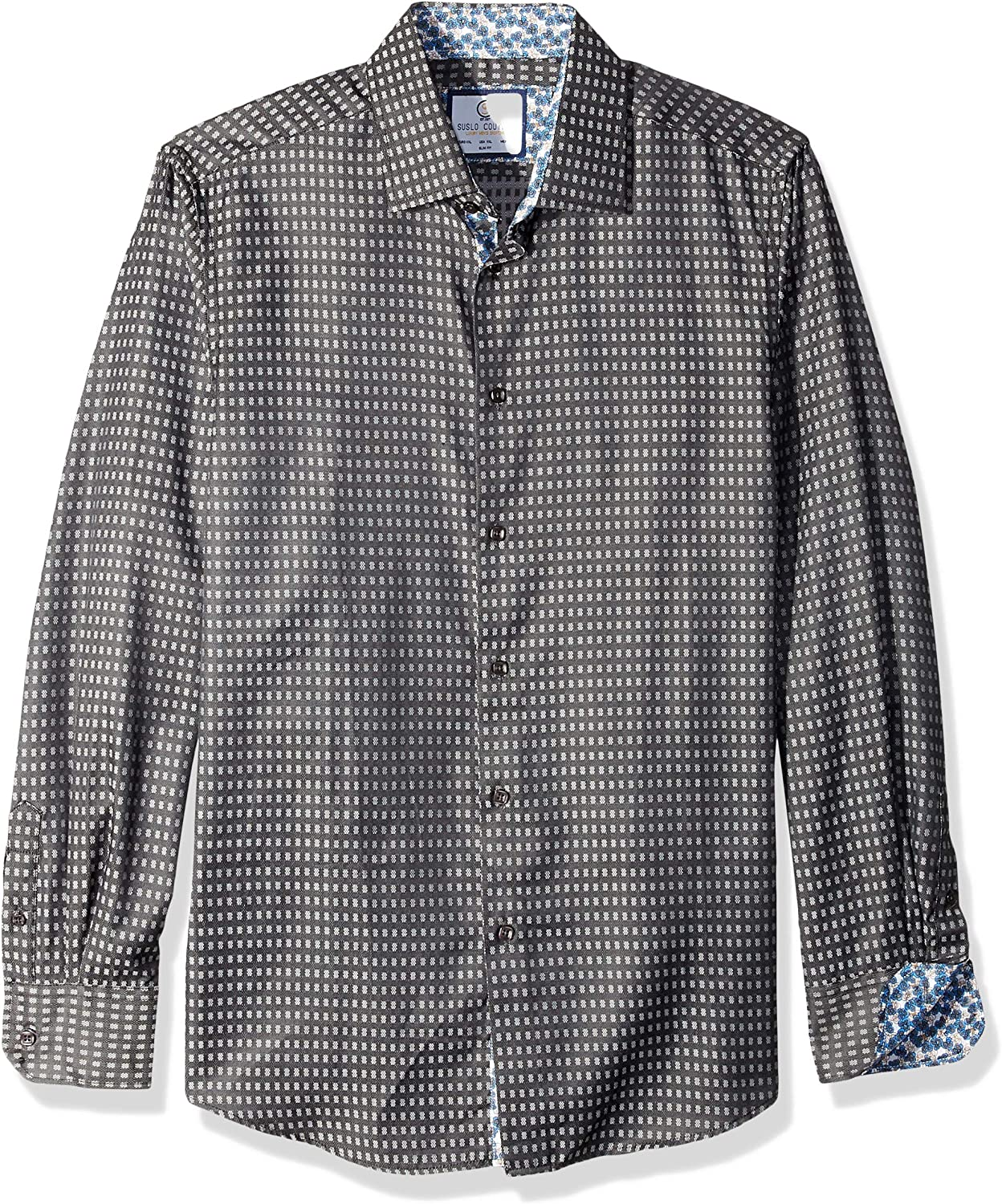 Azaro Uomo Men's Dress Shirt Casual Button Down Long Or 3/4 Sleeve Fitted