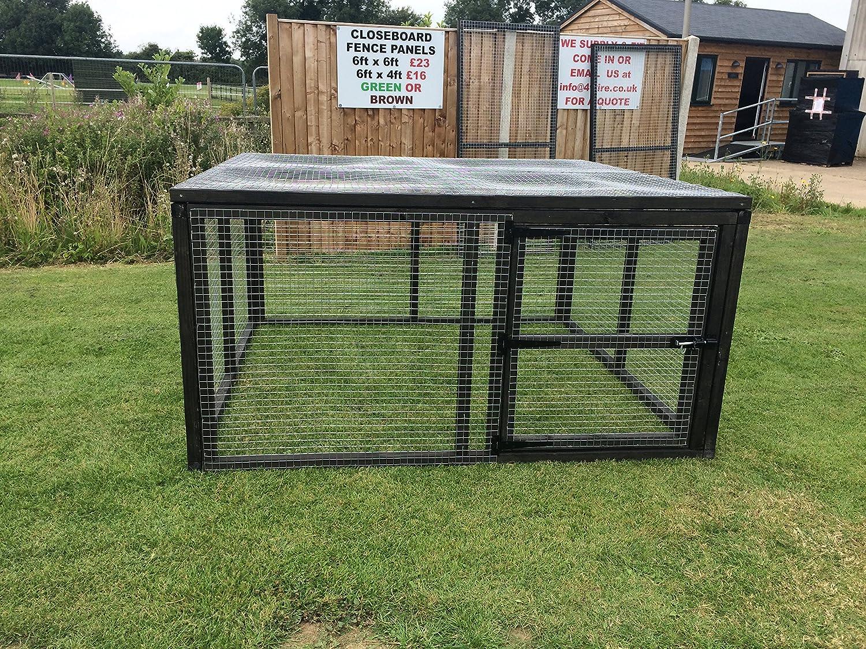 4wire Outdoor Rabbit Guinea Pig Run Black Pet Enclosure