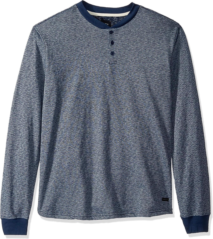 RVCA Men's Lavish Long Sleeve Henley Shirt