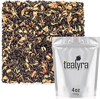 Tealyra - Pu Erh Maple Cinnamon Chai - Loose Leaf Tea - Ginger Root and Cinnamon - Soft Spicy Blend with Maple Syrop - Bold Caffeine - All Natural Ingredients - 100g (3.5-ounce)
