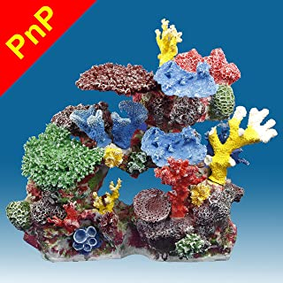 Instant Reef DM032PNP Large Artificial Coral Inserts Decor, Fake Coral Reef Decorations for Colorful Freshwater Fish Aquariums, Marine and Saltwater Fish Tanks