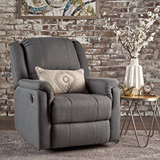 Christopher Knight Home Jemma Swivel Gliding Recliner Chair, Charcoal