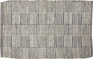 DII Contemporary Square Recycled Yarn Rug, 2x3', Gray Checker