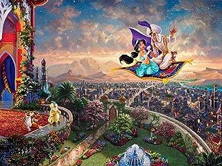Ceaco Thomas Kinkade Disney Princess Collection Aladdin Jigsaw Puzzle, 300 Pieces