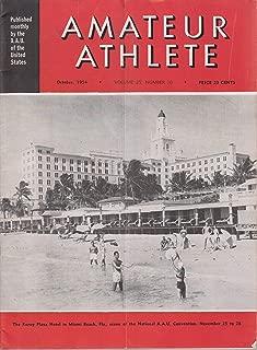 Amateur Athlete Magazine - October 1954 ( Volume 25, Number 10) Roney Plaza Hotel Miami Beach, FL cover