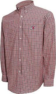 Crable NCAA Men's 3 Color Woven Polo Shirt, Utah Utes (White/Red/Black) - XX-Large