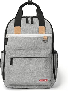 Skip Hop Duo Diaper Backpacks, Grey Melange,