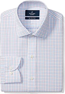 Amazon Brand - BUTTONED DOWN Men's Slim Fit Check Dress Shirt, Supima Cotton Non-Iron