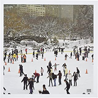 3dRose Snow blizzard in Central Park Manhattan New York City Ice Skate Ring - Greeting Cards, 6 x 6 inches, set of 12 (gc_10309_2)