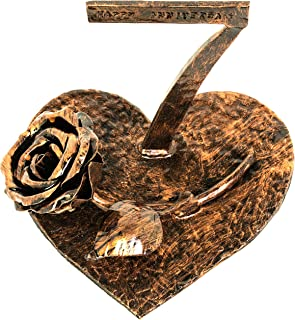 OptiProducts 7 Year Copper Iron Rose Heart   Iron Copper 7th Copper Iron Masterpiece   7th Wedding 7 Wedding