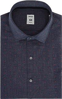 Nolwenn Men's Dress Shirt Spread Collar Long Sleeve