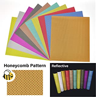 Stardust Co.'s Honeycomb Reflective Heat Transfer Vinyl, HTVvinyl, Iron on Vinyl, Reflective Vinyl, Super Easy To Weed, Safe Around Children, Iridescent Vinyl 11.4