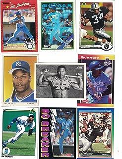 Bo Jackson/25 Different Baseball & Football Cards featuring Bo Jackson