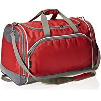 AmazonBasics Lightweight Durable Sports Duffel Gym and Overnight Travel Bag (Small, Red)
