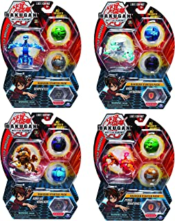 Bakugan Starter Pack 3-Pack, Pyrus Gorthion, Collectible Transforming Creatures, for Ages 6 and Up