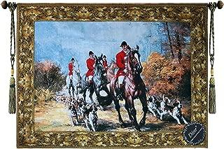 Beautiful Fox Hunting Scenes II Fine Tapestry Jacquard Woven Wall Hanging Art Decor