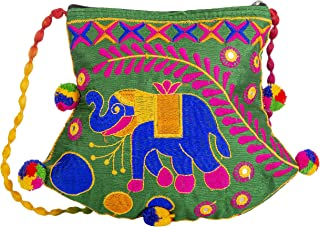 Handmade Designer Embroidered Ladies Purse | Design Elephant | Exclusively From Kutch Gujarat