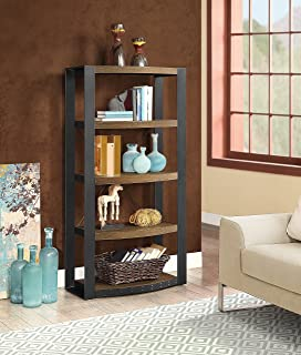 Whalen Furniture Santa Fe Storage Shelf and Audio Tower Stand