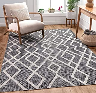 Well Woven Adria Grey Moroccan Flatweave Tribal Geometric Pattern Area Rug 5x7 (5'3