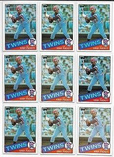 1985 Topps Baseball Kirby Puckett Rookie Card # 536 Lot Of 10 Cards Near Mint